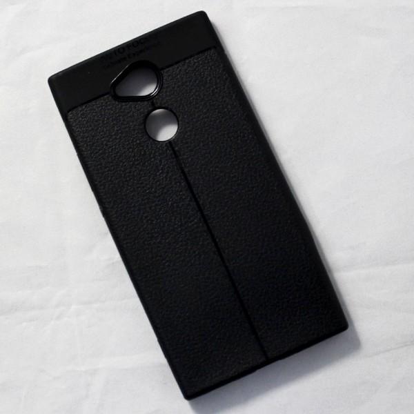Ốp lưng Sony Xperia XA2 Ultra Auto Focus vân da (Đen)