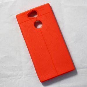 Ốp lưng Sony Xperia XA2 Auto Focus vân da (Cam)