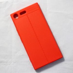 Ốp lưng Sony Xperia XZ Premium Auto Focus vân da (Cam)