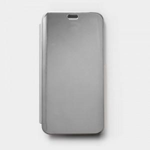 Bao da Xiaomi Mi 8 Lite Clear View tráng gương (Bạc)