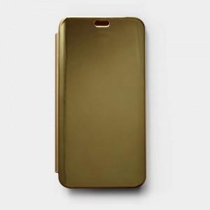 Bao da Xiaomi Mi 8 Lite Clear View tráng gương (Vàng)
