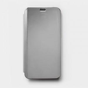 Bao da Xiaomi Mi 8 Clear View tráng gương (Bạc)