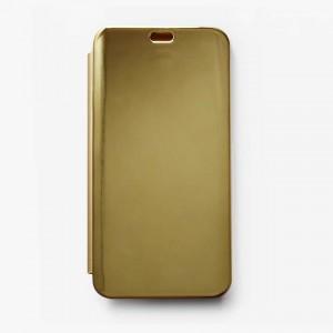 Bao da Xiaomi Mi 8 Clear View tráng gương (Vàng)