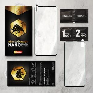 Miếng dán kính cường lực Xiaomi Poco X3 Full hiệu Web Phụ Kiện (Đen)