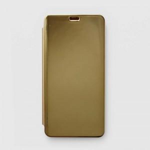 Bao da Xiaomi Redmi Note 6 Pro Clear View tráng gương (Vàng)