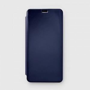 Bao da Xiaomi Redmi Note 6 Pro Clear View tráng gương (Xanh Navy)