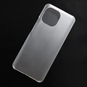 Ốp lưng nhựa cứng Xiaomi Mi 11 nhám trong