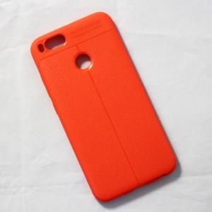Ốp lưng Xiaomi Mi 5X Auto Focus vân da (Cam)