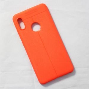 Ốp lưng Xiaomi Mi 6X Auto Focus vân da (Cam)