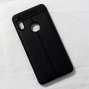 Ốp lưng Xiaomi Mi 6X Auto Focus vân da (Đen)