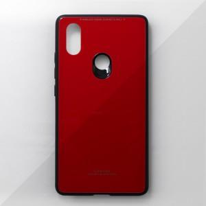 Ốp lưng Xiaomi Mi 8 SE tráng gương viền dẻo (Đỏ)