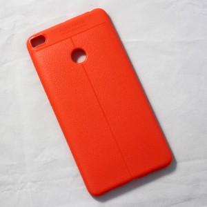 Ốp lưng Xiaomi Mi Max 2 Auto Focus vân da (Cam)