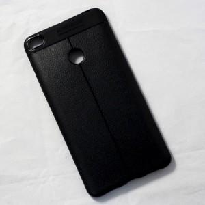 Ốp lưng Xiaomi Mi Max 2 Auto Focus vân da (Đen)
