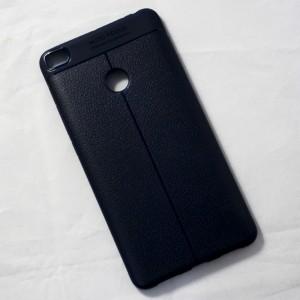 Ốp lưng Xiaomi Mi Max 2 Auto Focus vân da (Xanh Navy)