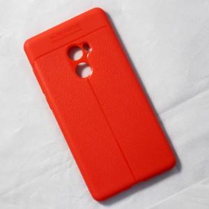 Ốp lưng Xiaomi Mi Mix 2 Auto Focus vân da (Cam)