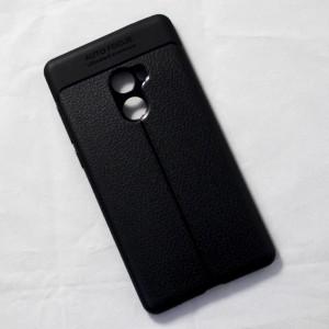 Ốp lưng Xiaomi Mi Mix 2 Auto Focus vân da (Đen)