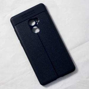 Ốp lưng Xiaomi Mi Mix 2 Auto Focus vân da (Xanh Navy)