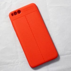 Ốp lưng Xiaomi Mi Note 3 Auto Focus vân da (Cam)