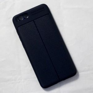 Ốp lưng Xiaomi Mi Note 3 Auto Focus vân da (Xanh Navy)