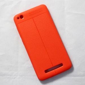 Ốp lưng Xiaomi Redmi 4A Auto Focus vân da (Cam)