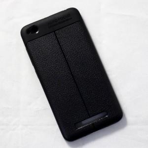 Ốp lưng Xiaomi Redmi 4A Auto Focus vân da (Đen)