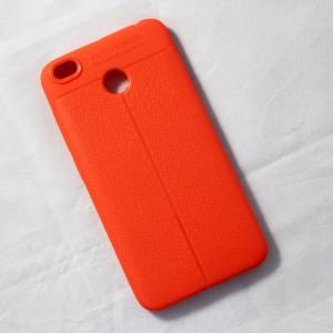 Ốp lưng Xiaomi Redmi 4X Auto Focus vân da (Cam)