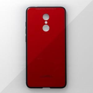 Ốp lưng Xiaomi Redmi 5 Plus tráng gương viền dẻo (Đỏ)