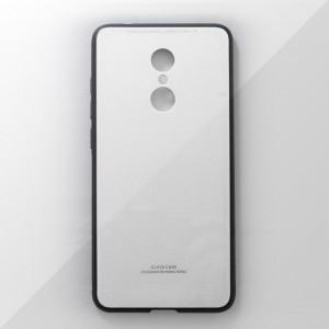 Ốp lưng Xiaomi Redmi 5 Plus tráng gương viền dẻo (Trắng)