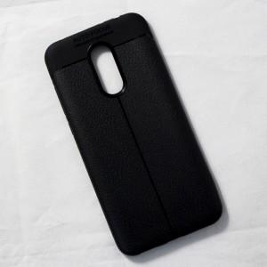 Ốp lưng Xiaomi Redmi 5 Plus Auto Focus vân da (Đen)