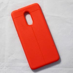Ốp lưng Xiaomi Redmi 5 Auto Focus vân da (Cam)