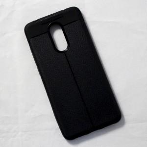 Ốp lưng Xiaomi Redmi 5 Auto Focus vân da (Đen)