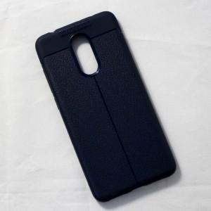 Ốp lưng Xiaomi Redmi 5 Auto Focus vân da (Xanh Navy)