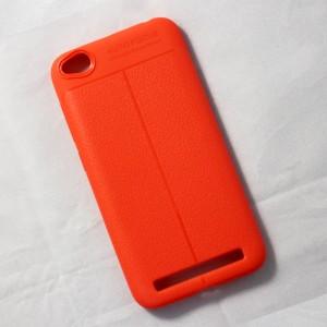 Ốp lưng Xiaomi Redmi 5A Auto Focus vân da (Cam)