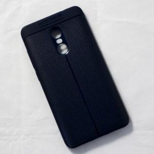 Ốp lưng Xiaomi Redmi Note 4 Auto Focus vân da (Xanh Navy)