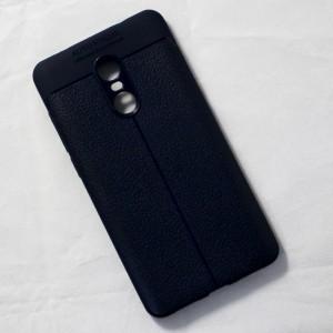 Ốp lưng Xiaomi Redmi Note 4X Auto Focus vân da (Xanh Navy)