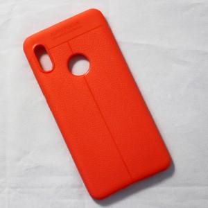 Ốp lưng Xiaomi Redmi Note 5 Pro Auto Focus vân da (Cam)