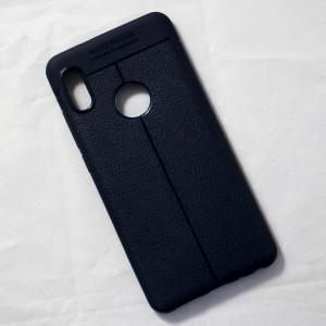 Ốp lưng Xiaomi Redmi Note 5 Pro Auto Focus vân da (Xanh Navy)