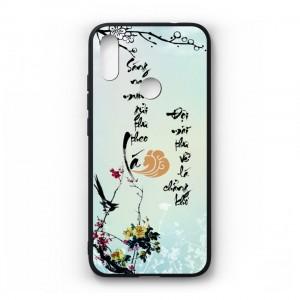 Ốp lưng kính in hình cho Xiaomi Redmi Note 7 Pro in hình thư pháp(mẫu34) - Hàng chính hãng