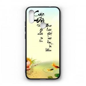 Ốp lưng kính in hình cho Xiaomi Redmi Note 7 Pro in hình thư pháp(mẫu35) - Hàng chính hãng