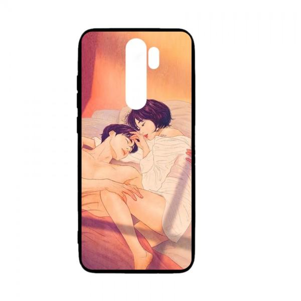 Ốp lưng kính in hình cho Xiaomi Redmi Note 8 Pro Valentine (mẫu 47) - Hàng chính hãng