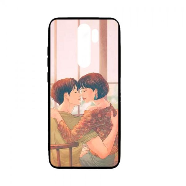Ốp lưng kính in hình cho Xiaomi Redmi Note 8 Pro Valentine (mẫu 48) - Hàng chính hãng
