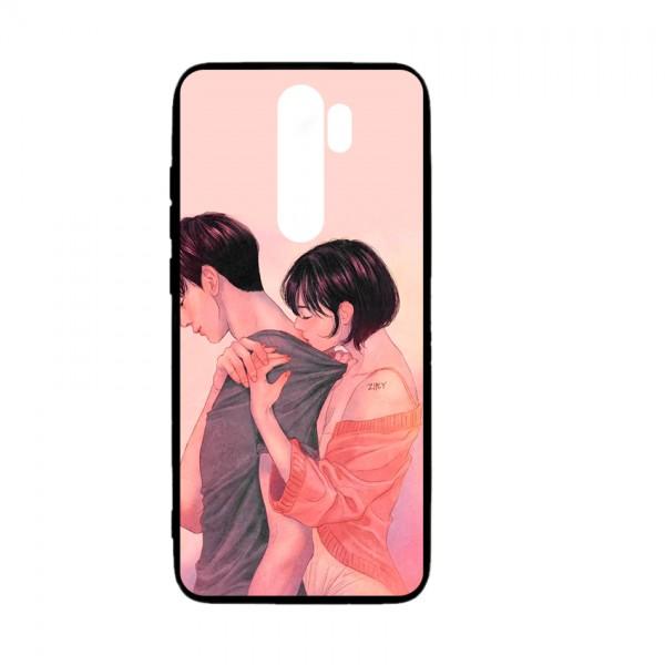 Ốp lưng kính in hình cho Xiaomi Redmi Note 8 Pro Valentine (mẫu 56) - Hàng chính hãng