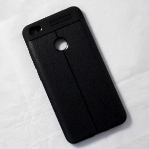 Ốp lưng Xiaomi Redmi Y1 Auto Focus vân da (Đen)