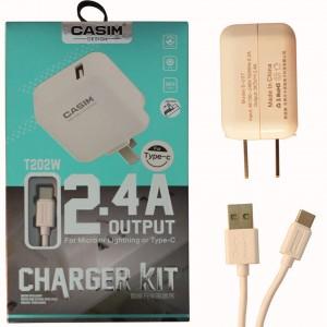 Bộ sạc nhanh CASIM 5V-2.4A đầu Type-C hỗ trợ Quick Charge 3.0