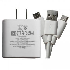 Bộ sạc nhanh Hoco C57 hỗ trợ sạc cho 2 thiết bị  + cáp Micro ( Cáp tặng kèm không bảo hành )