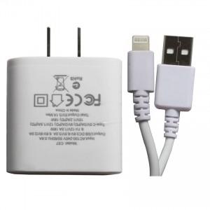 Bộ sạc nhanh Hoco C57 hỗ trợ sạc cho 2 thiết bị  + cáp iPhone ( Cáp tặng kèm không bảo hành )