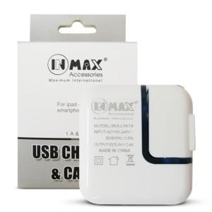 Cốc sạc, củ sạc INMAX 5V-2.4A (Model IRG-UW18) cho iOS và Android