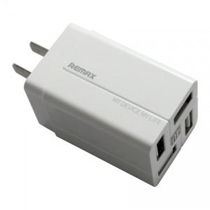 Cốc sạc, củ sạc Remax RP-U43 4 cổng USB  chân dẹt - Model mới