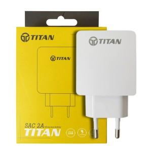 Cốc sạc, củ sạc TITAN 5V-2A (Model TITAN-SA15) cho iOS, Android và Windowsphone