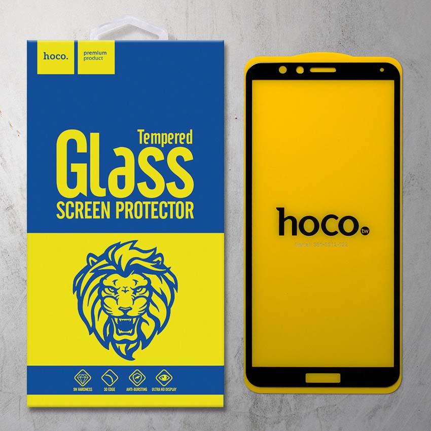 Miếng dán cường lực Huawei Honor 7X hiệu HOCO Full màn hình (Đen)